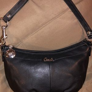 Small black Coach purse- used once.
